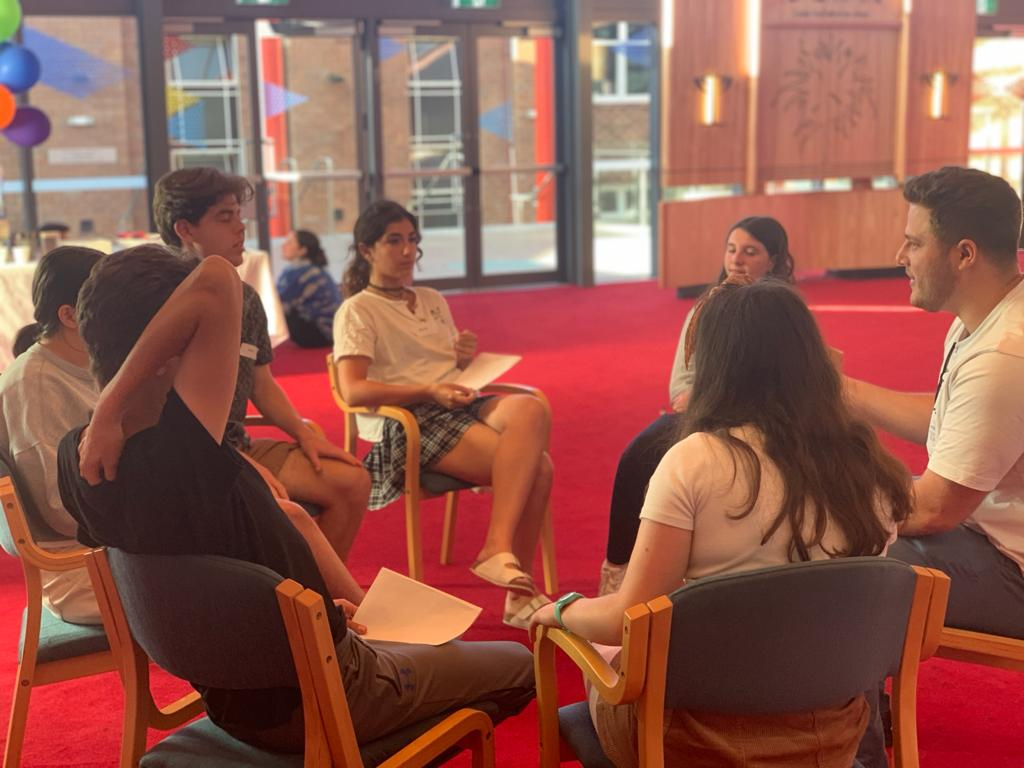 Discussion group at Holocaust Denial event